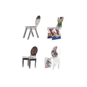 Chaises Miniatures en Plexiglas par Acrila France
