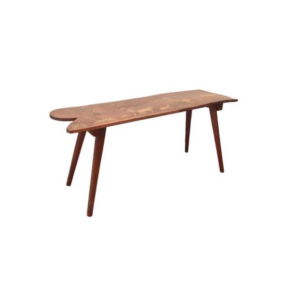 Table d'Appoint en Marqueterie Style Luigi Scremin, 1950s