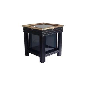 Table Lumineuse d'Appoint Black Box Cube Eclairé, 1970s