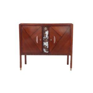 Cabinet Art Deco Bois Exotique par Emile Cambier, 1930s