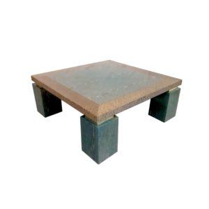 Table Basse Laquée en Ronce de Noyer Bicolore, 1970s