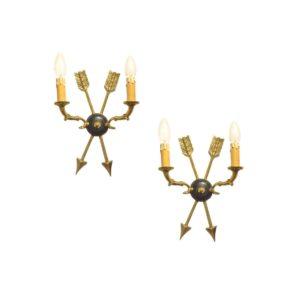 2x Appliques Art Deco par Maison Jansen