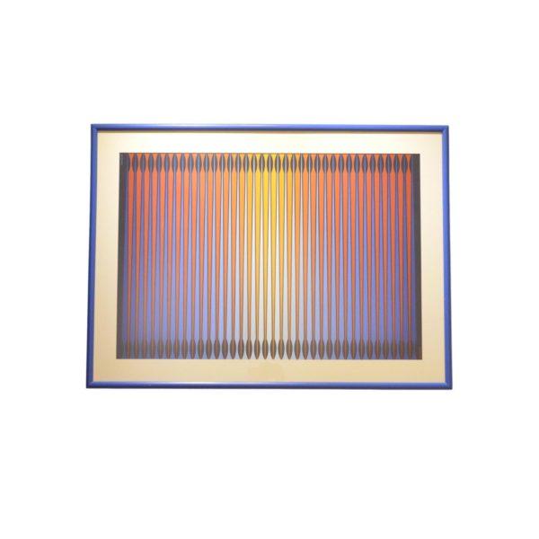 Lithographie Opt Art II de Dordevic Miodrag, 1970s