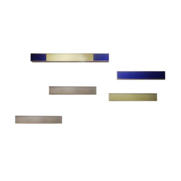 Appliques Aluminium & Plexiglas par Edward Van Vliet, 1990s