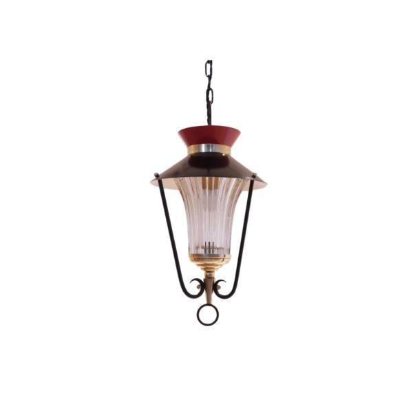 Lanterne Bicolore Style Néo Classique , 1950s