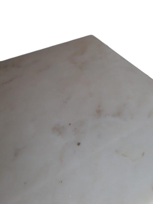 2x Consoles Marbre Blanc et Fer Forgé, 1950s