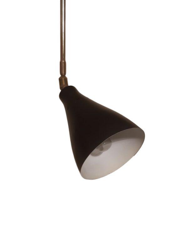 Lampe Bras Articulé en Métal & Laiton, 1950s