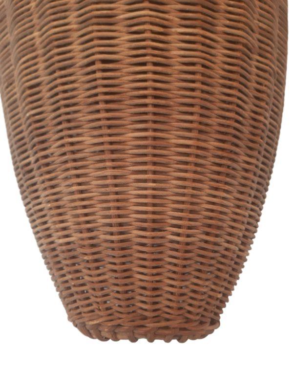Lampe Tripode en Rotin et Métal, 1960s