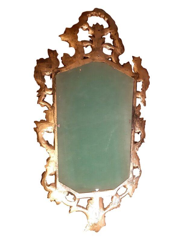 Miroir Doré Décor Végétal, 1950s