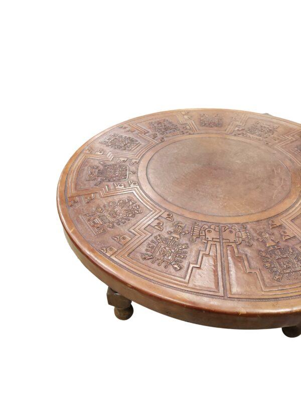Table Basse Angel Pazmino en Cuir, 1960